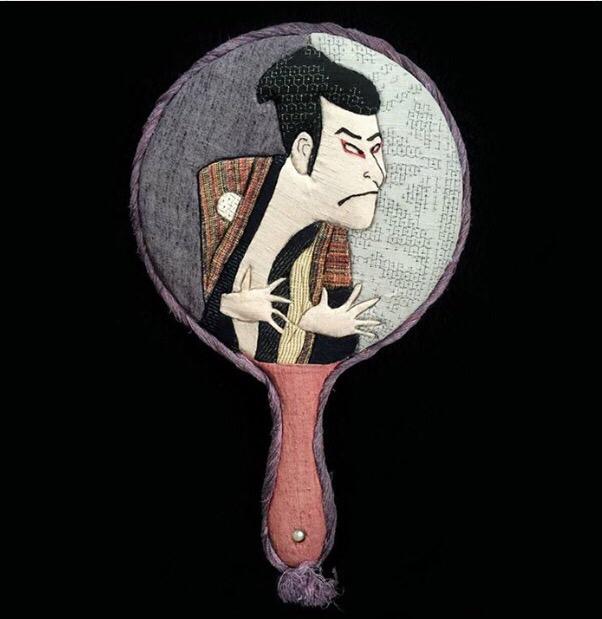 歌舞伎 浮世絵 写楽木目込み人形